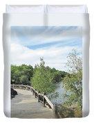 Ramsey Lake Boardwalk Duvet Cover