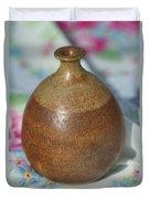 Rare John Regis Tuska Pottery Vase Duvet Cover