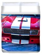 Red 1966 Ford Mustang Shelby Duvet Cover