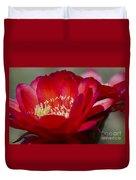 Red Cactus Flower Duvet Cover
