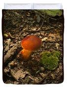 Red Caped Mushroom 3 Duvet Cover
