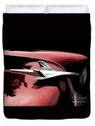 Red Chevy Jet Duvet Cover