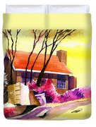 Red House Duvet Cover by Anil Nene