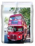Red London Bus Duvet Cover