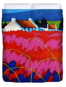 Red Meadow Duvet Cover