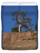 Red Pine Tree Duvet Cover