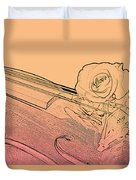Red Rose Violin Viola Duvet Cover