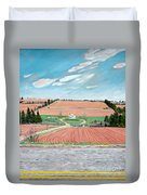 Red Soil On Prince Edward Island Duvet Cover