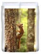 Red Squirrel Duvet Cover