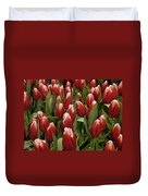 Red Tulip Heaven Duvet Cover