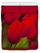 Red Tulips In Holland Duvet Cover