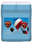 Red White And Balloons Duvet Cover