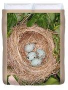 Red-winged Blackbird Nest Duvet Cover
