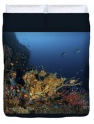 Reef Scene With Coral And Fish Duvet Cover