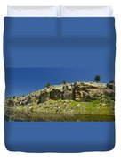 Reflecting Cliffs Duvet Cover