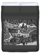 Reflections B W Duvet Cover by Barbara Griffin