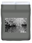 Reflections On The North Fork River In Black And White Duvet Cover