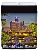 Renaissance Center Detroit Mi Duvet Cover