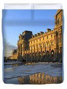Richelieu Wing Of The Louvre Museum In Paris Duvet Cover