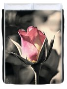 Rita Rosebud Pink Duvet Cover
