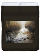 River In The Fog Duvet Cover