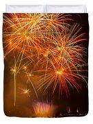 River Thames Fireworks Duvet Cover