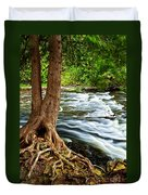 River Through Woods Duvet Cover