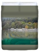 River With Trees Duvet Cover
