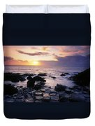 Rocks On The Beach, Giants Causeway Duvet Cover