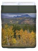 Rocky Mountain Autumn View Duvet Cover