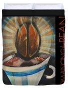 Romancing The Bean Poster Duvet Cover