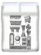 Romanesque Ornament Duvet Cover