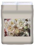 Romantic White Roses Duvet Cover
