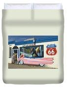 Route 66 Elvis Duvet Cover