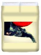 Russian Blue Cat Duvet Cover