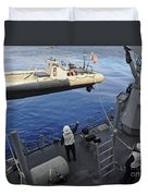 Sailors Lower A Rigid Hull Inflatable Duvet Cover