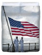 Sailors Stand At Parade Rest Duvet Cover