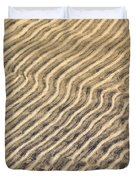 Sand Ripples In Shallow Water Duvet Cover