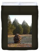 Sandstone Cairn Nature Art Sculpture Duvet Cover