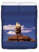 Santa Clause At Canyonlands National Park Duvet Cover