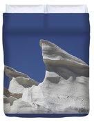Sarakiniko White Tuff Formations Duvet Cover