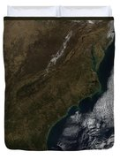 Satellite View Of The Southeastern Duvet Cover