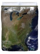Satellite View Of The United States Duvet Cover