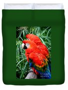 Scalet Macaw Duvet Cover