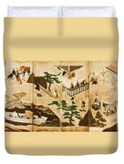 Scenes From The Tale Of Genji Duvet Cover