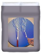 Schlieren Image Of A Candle And Match Duvet Cover