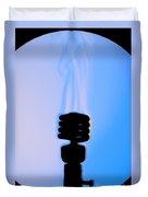 Schlieren Image Of A Hot Light Bulb Duvet Cover