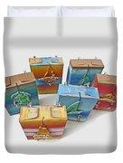 Sea Boxes Duvet Cover