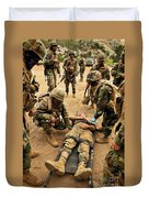 Seabees Conduct A Mass Casualty Drill Duvet Cover