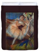 Seated Dancer Duvet Cover by Edgar Degas